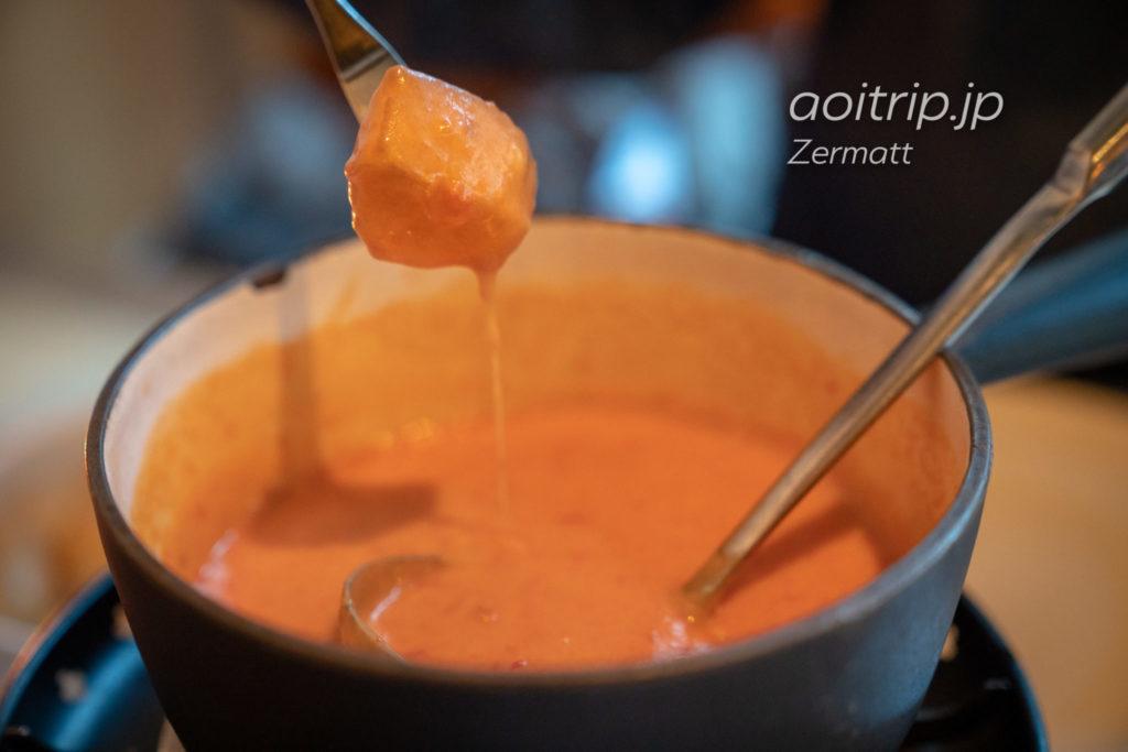 Restaurant Walliserkanneのトマトチーズフォンデュ