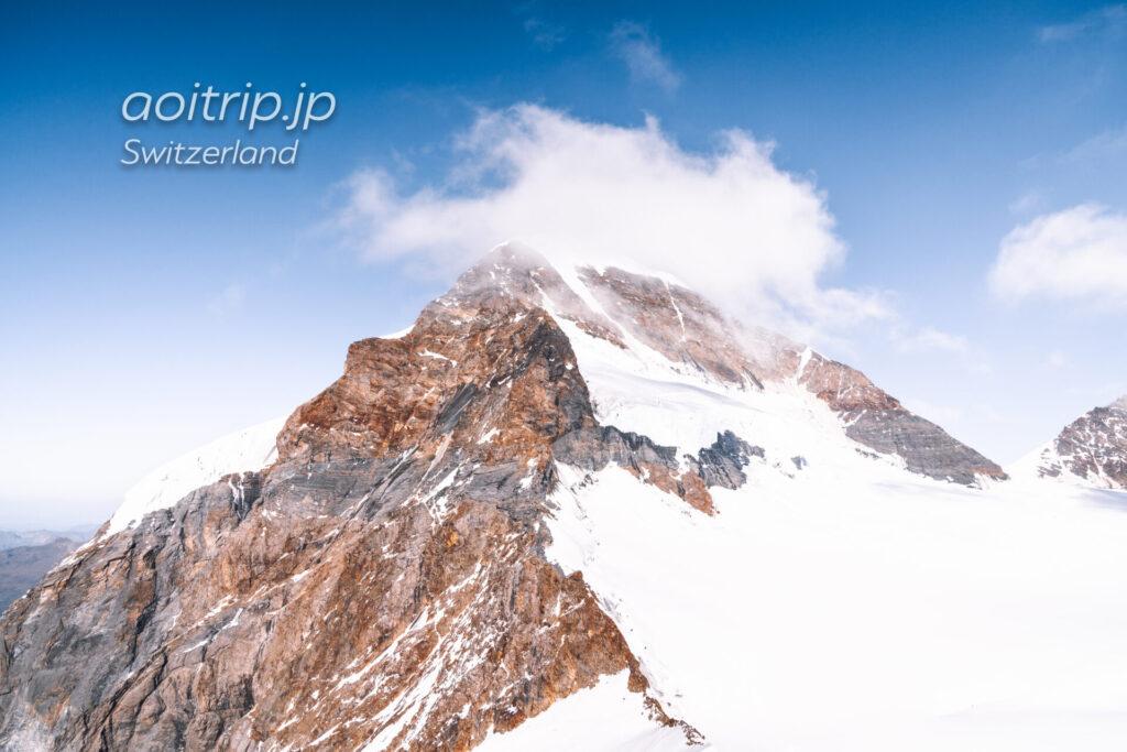 スイスのユングフラウヨッホ展望台から望むメンヒ