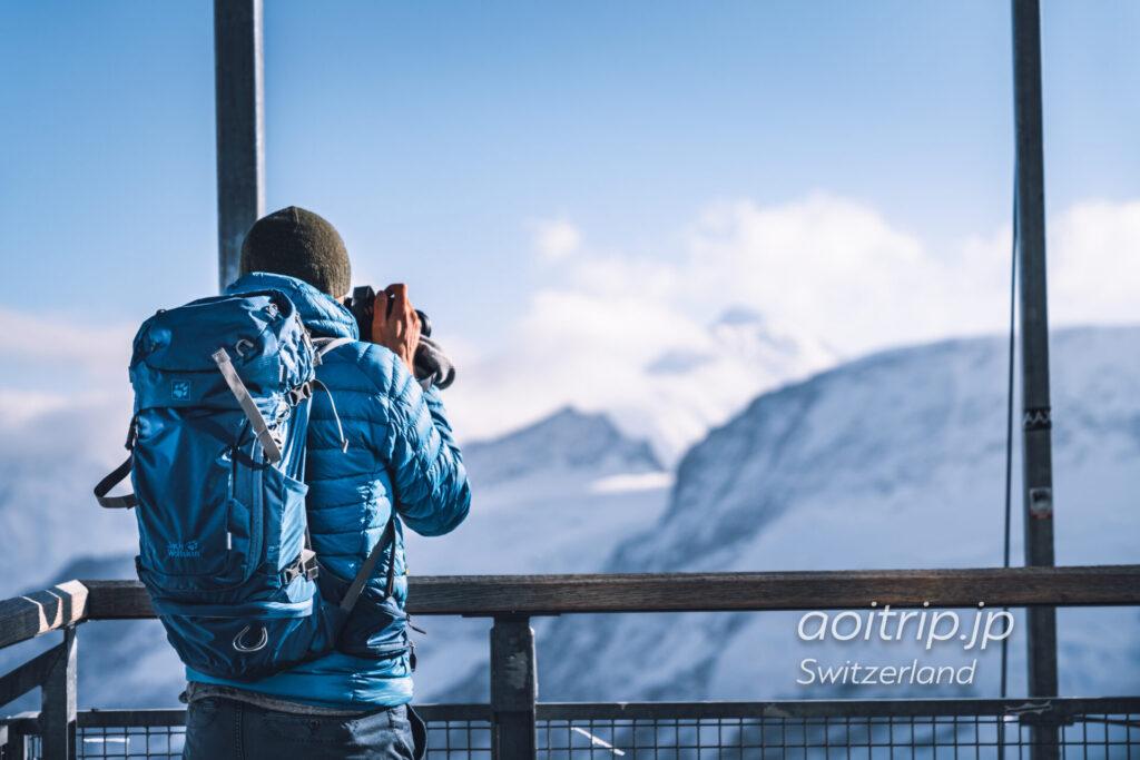 スイスのユングフラウヨッホ展望台