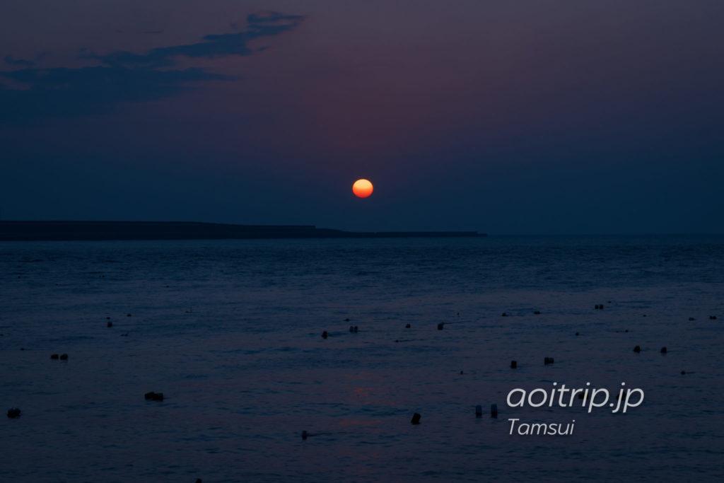 台湾 淡水の夕日(ND16フィルターを使って撮影)