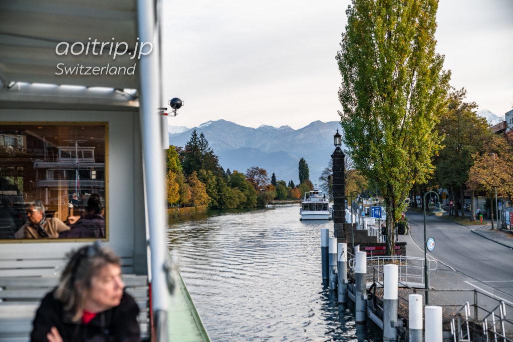 スイス トゥーン湖の遊覧船(クルーズ船) トゥーン鉄道駅周辺