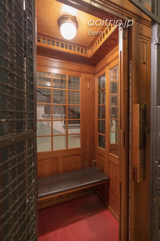 ホテルナショナルベルンのエレベーター