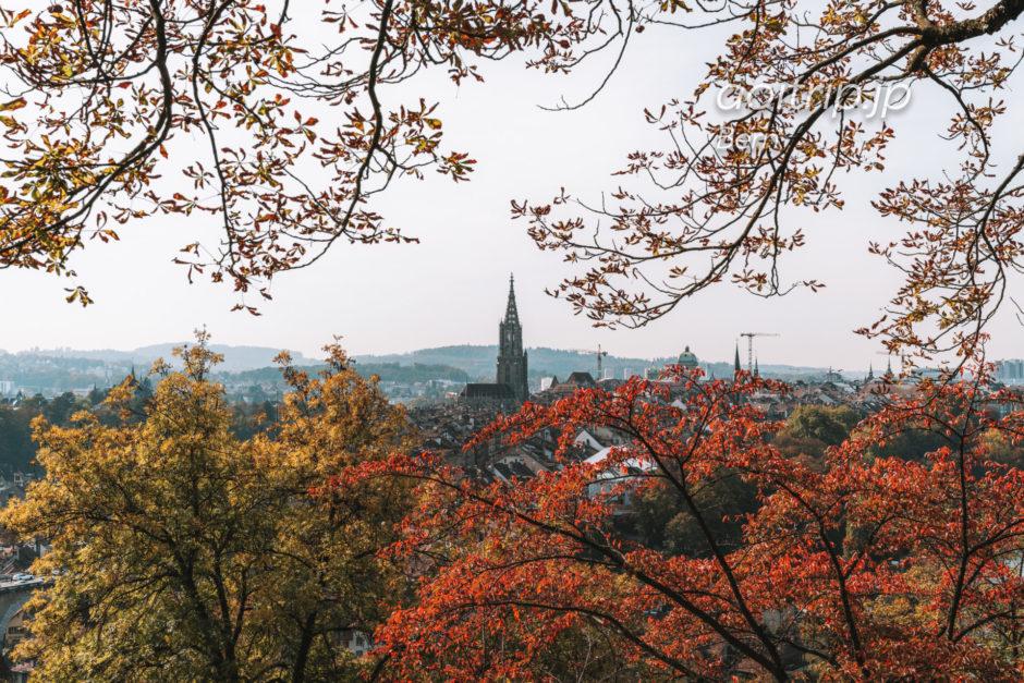 秋のベルン旧市街