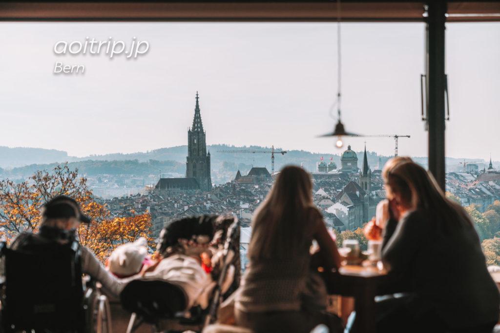ベルンの丘から旧市街を見おろすバラ園のレストランRosengarten