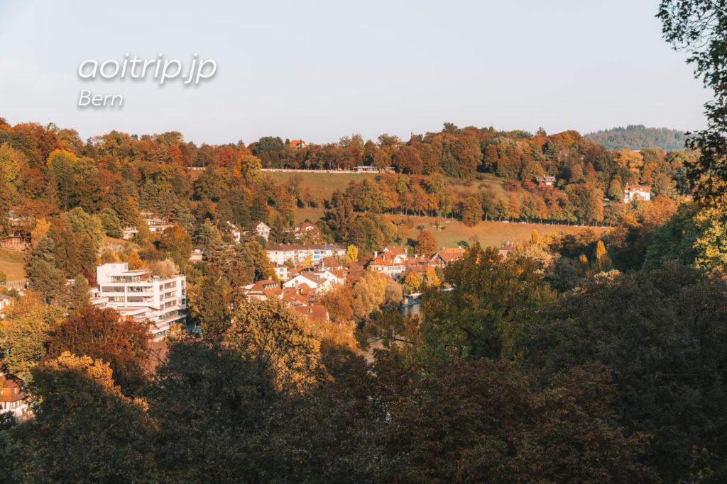コルンハウス橋から見たベルンのバラ園