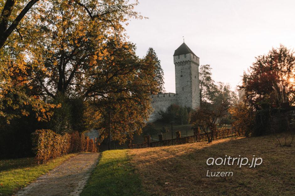 ルツェルンのムーゼック城壁 Schirmerturm