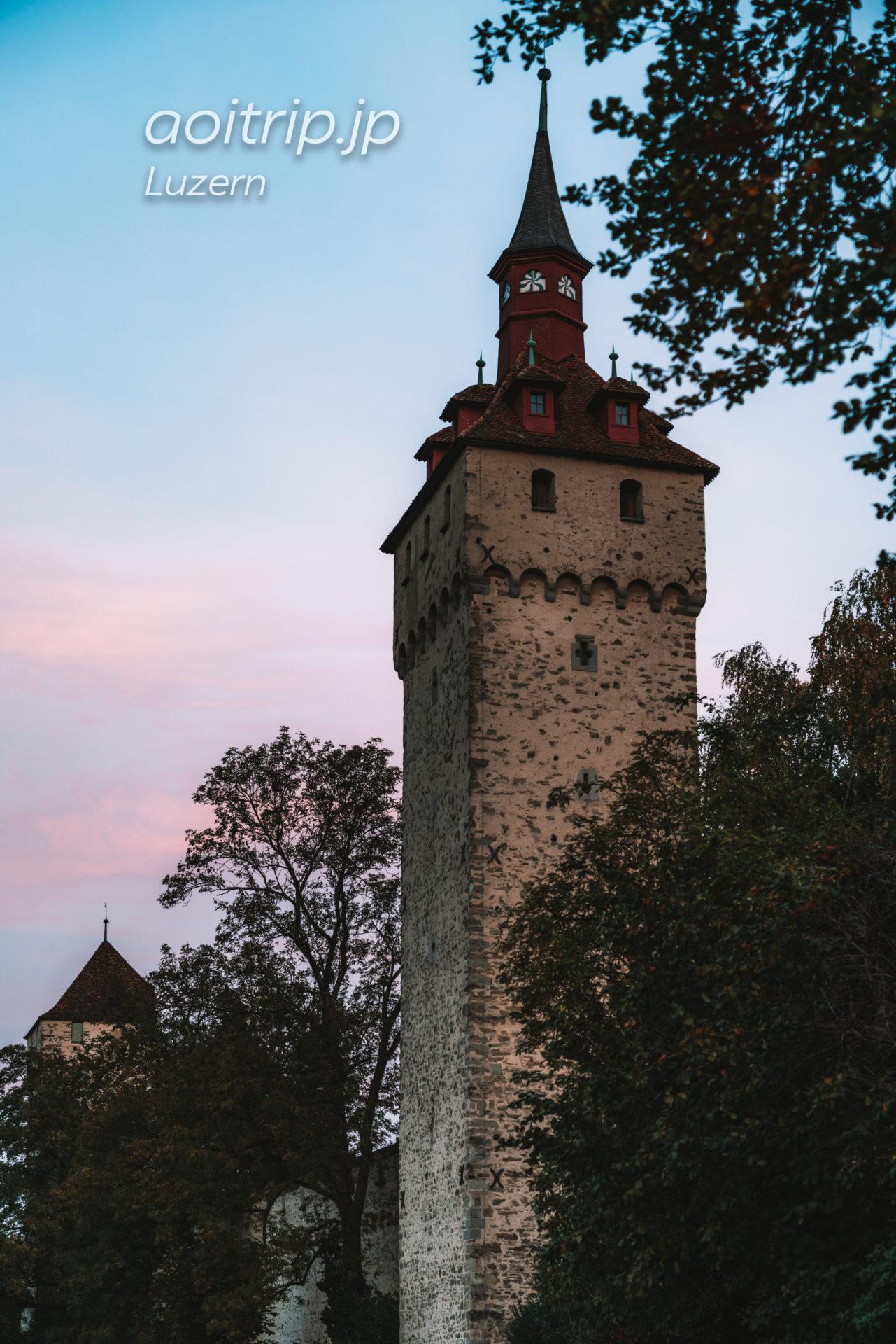 ルツェルンのムーゼック城壁 Wachtturm