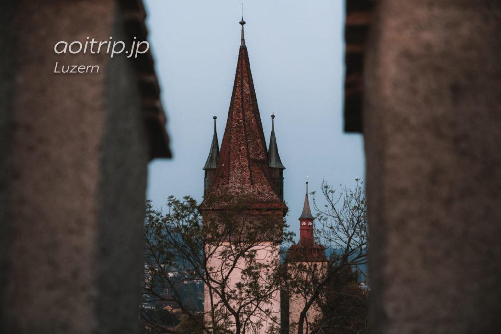 スイス ルツェルンのムーゼック城壁(Museggmauer)