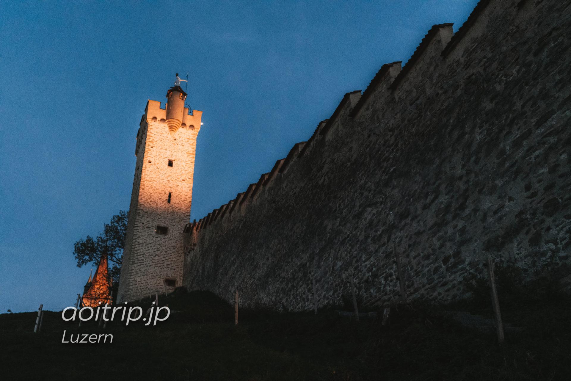 ルツェルンのムーゼック城壁 Männliturm