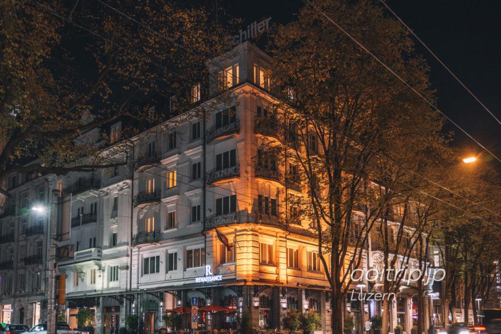 ルネッサンスルツェルンホテルの外観