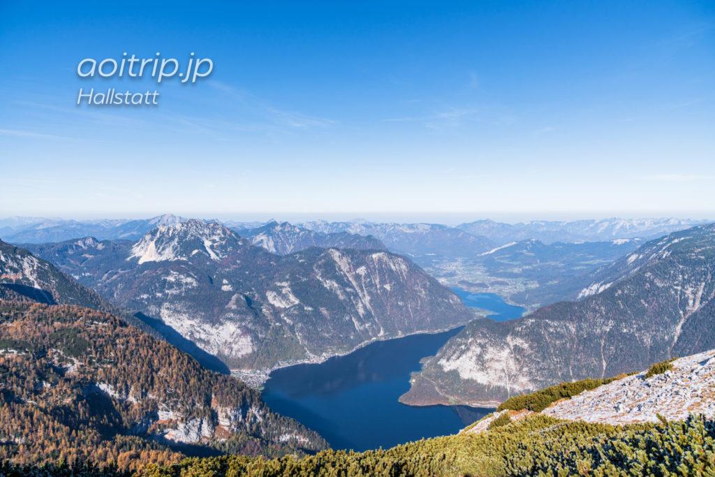 5フィンガーズから望むハルシュタット湖の眺望