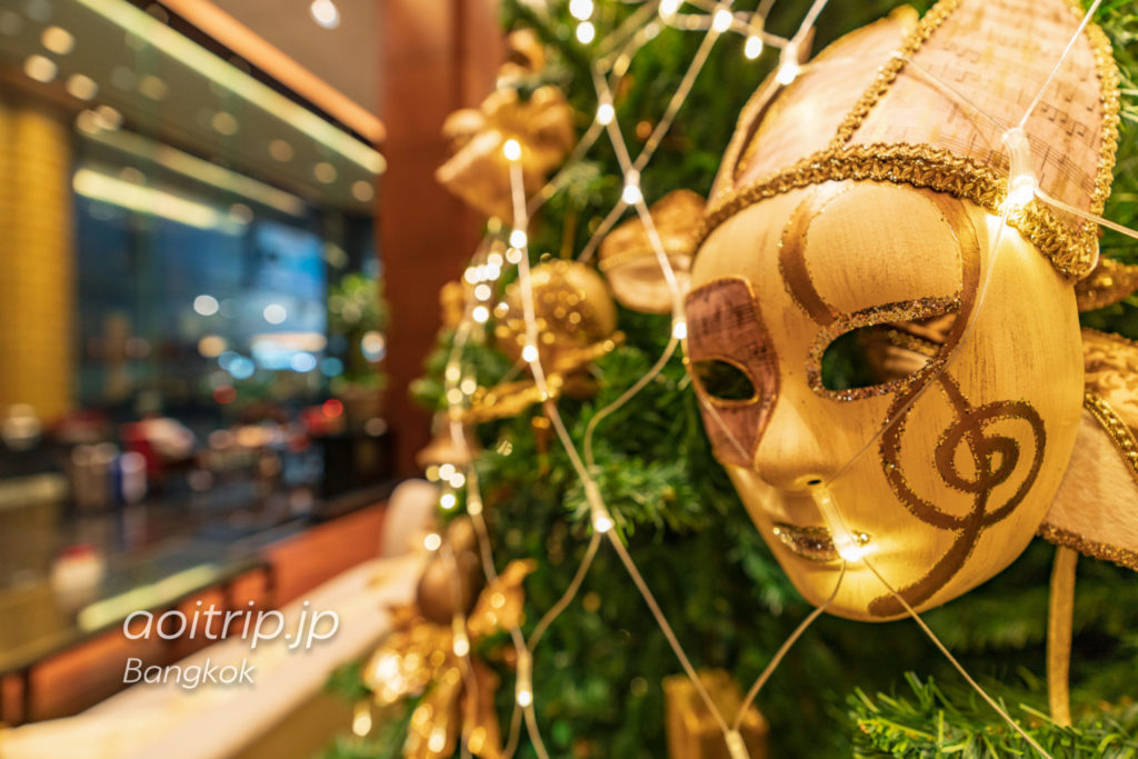 JWマリオットバンコクのホテルロビー(クリスマスシーズン)