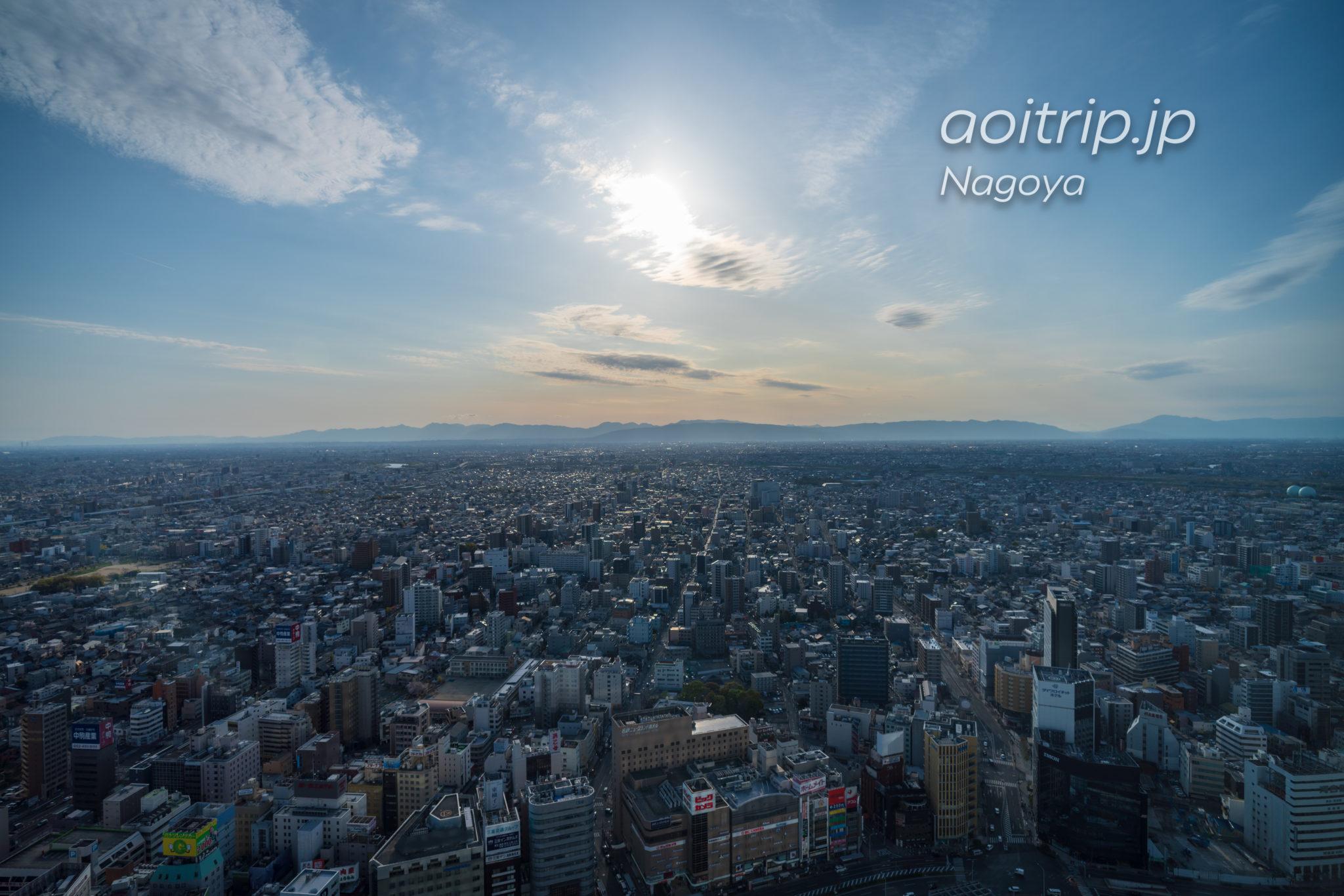 名古屋マリオットアソシアホテルのデラックスルーム 45階からの眺望