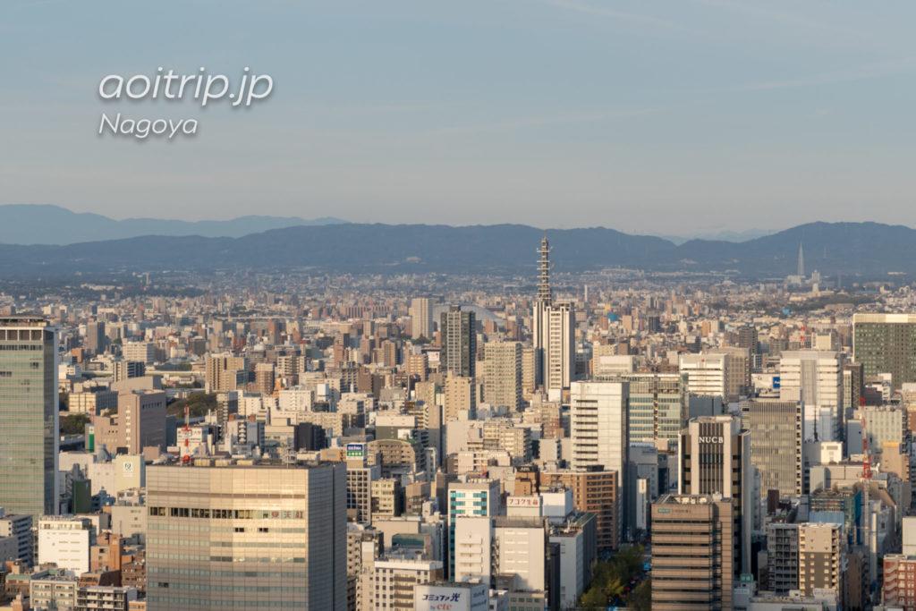 名古屋マリオットアソシアホテルのクラブラウンジの眺望