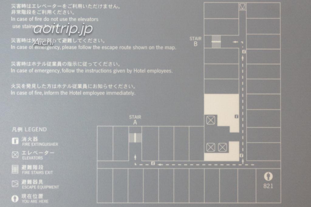フォーポイント バイ シェラトン名古屋 中部国際空港のフロアマップ