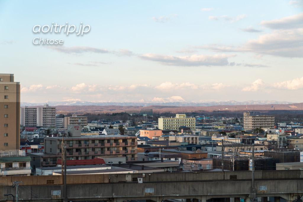 ANAクラウンプラザホテル千歳 コーナーツインルーム バルコニーからの眺望