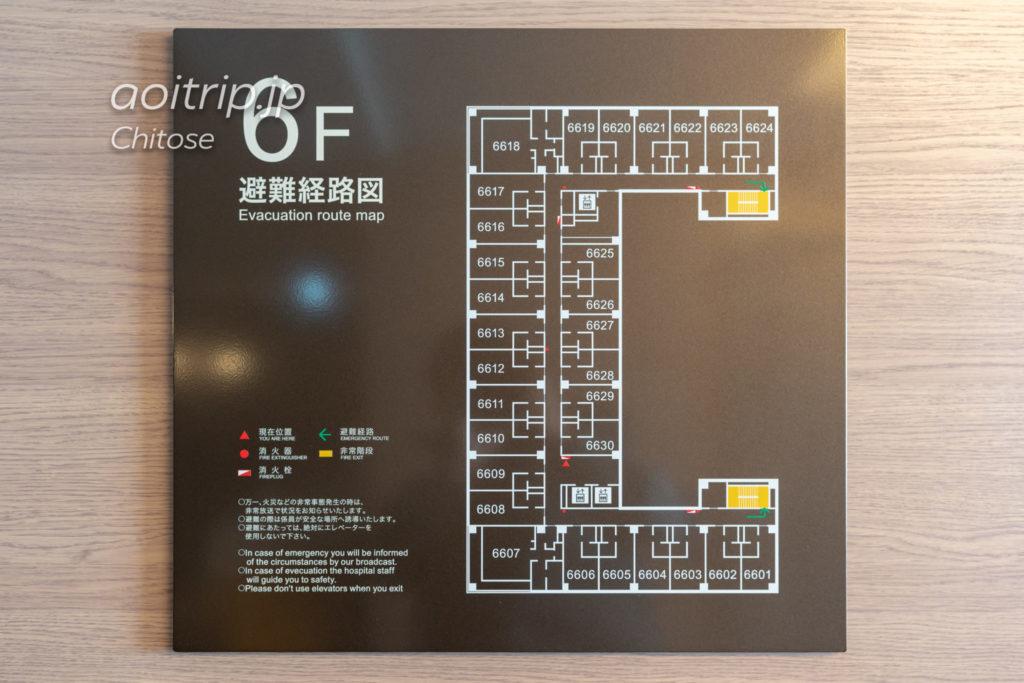 ANAクラウンプラザホテル千歳 ウイング棟のフロアマップ