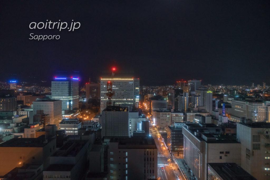 ANAクラウンプラザホテル札幌26階スカイラウンジ「サッポロビュー」からの眺望