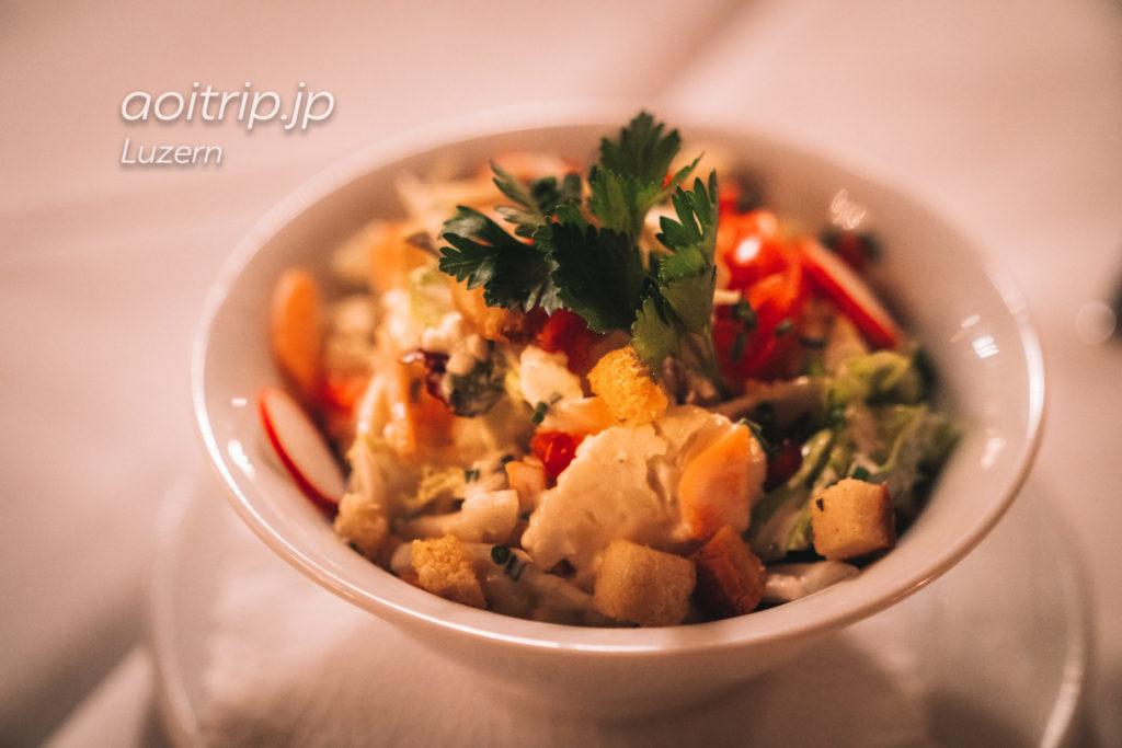 ベルンのレストラン コルンハウスケラー Kornhauskeller コルンハウスサラダ(Kornhaus Salad)