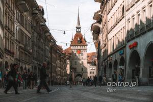 スイス ベルンの町と牢獄塔(Käfigturm)