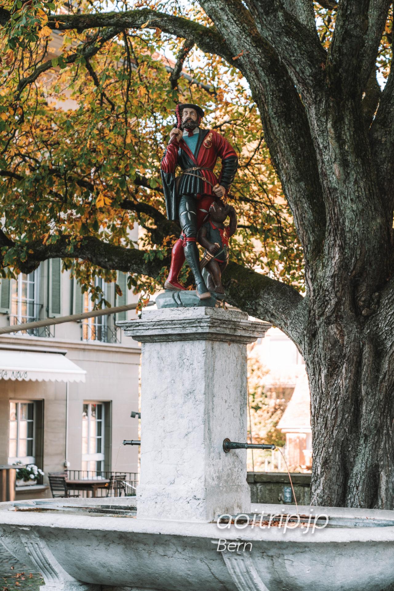 ベルンの噴水 レウーファーブルネン(独:Läuferbrunnen 英:Messenger Fountain)