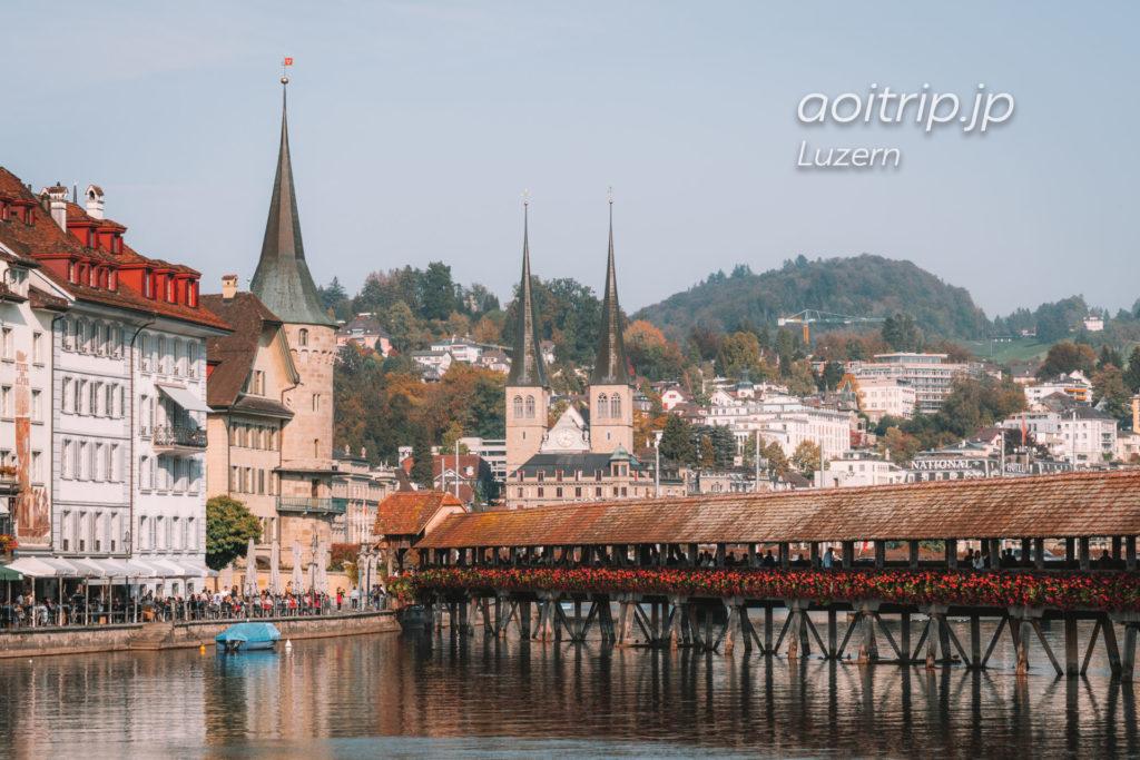 スイス ルツェルンのカペル橋