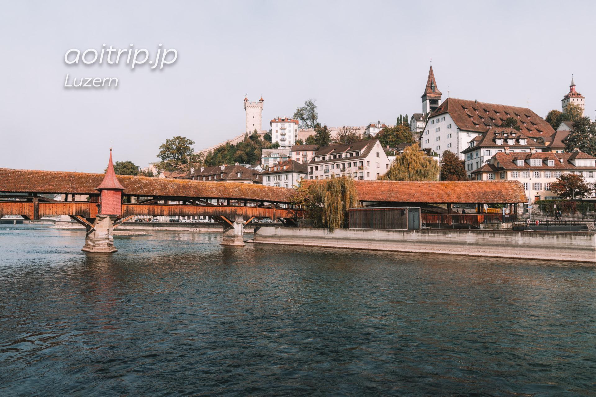 スイス ルツェルンのシュプロイアー橋 Spreuerbrücke