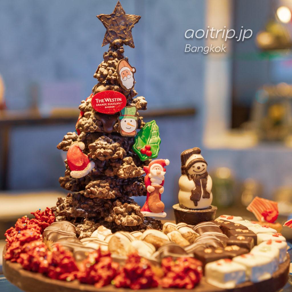 ウェスティン グランデ スクンビット バンコク クラブラウンジのイブニングカクテル クリスマスのデザート