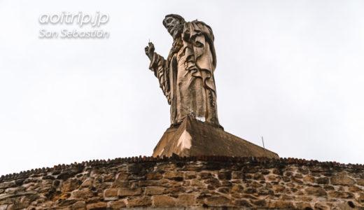 モンテウルグル キリスト像の建つ旧要塞(サンセバスティアン,スペイン)