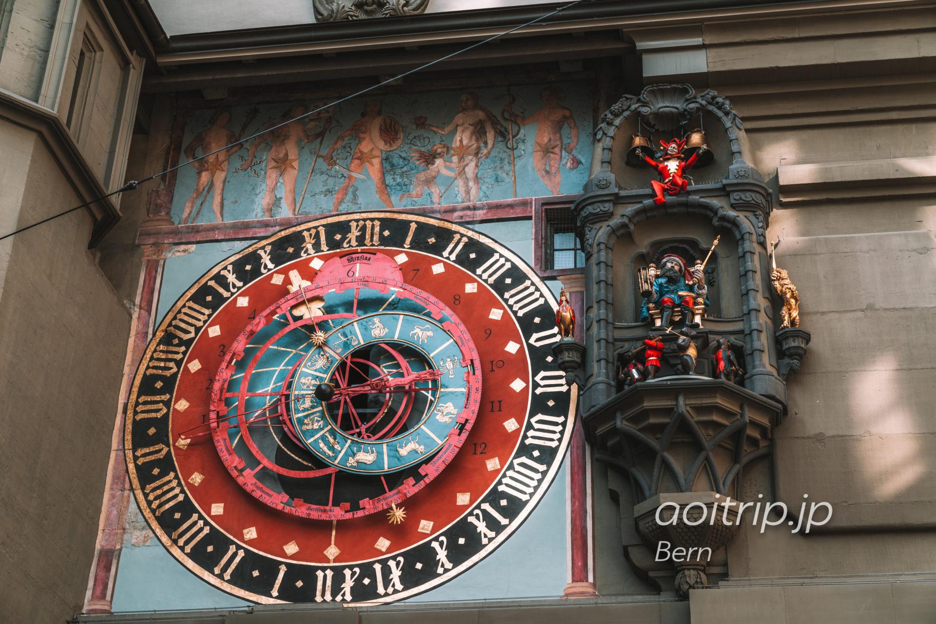 スイス ベルンの時計塔(Zytglogge)からくり時計