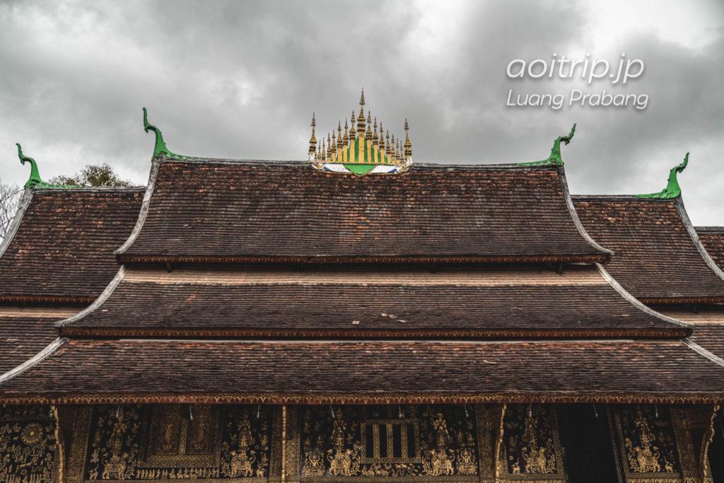 ルアンパバーンのワットシェントーン(Wat Xiengthong)の屋根(ルアンパバーン様式)