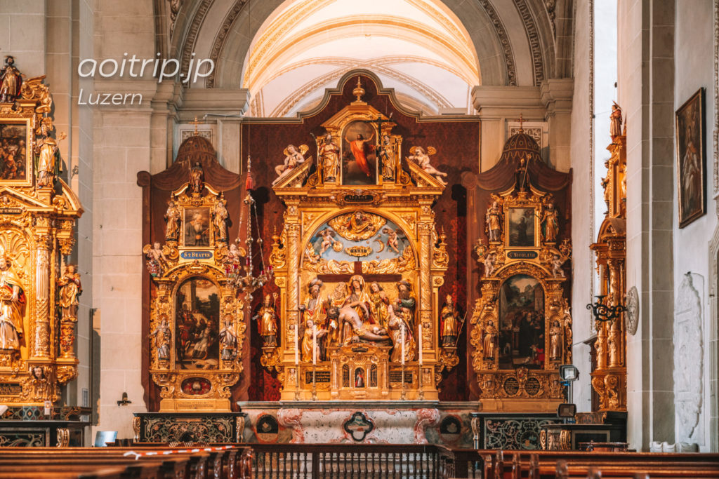ルツェルンのホーフ教会 聖母マリアの祭壇画