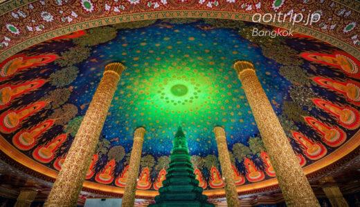 ワットパクナム寺院 エメラルドに輝く仏塔(バンコク)