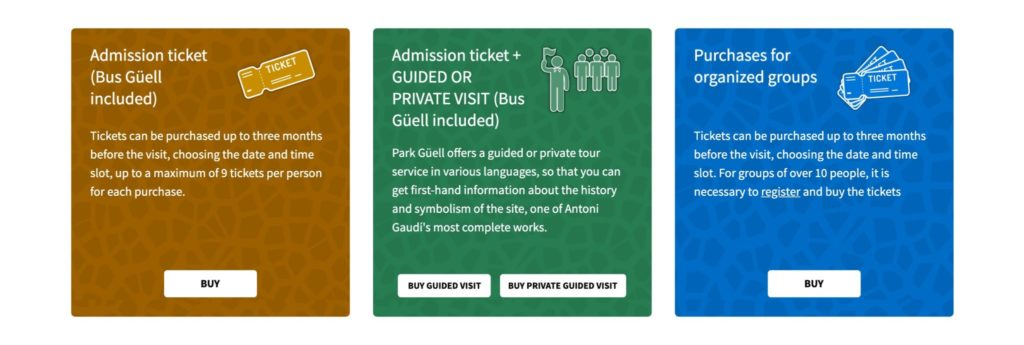 グエル公園のチケット予約方法