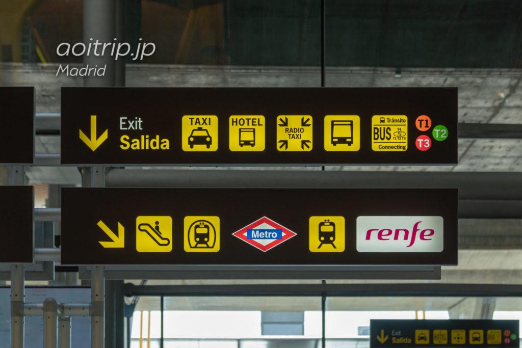 マドリード バラハス空港の案内