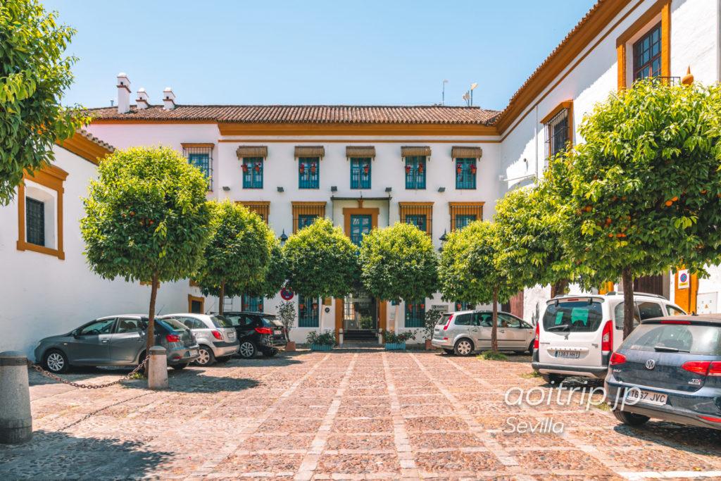 オスペス ラスカサス デル レイデ バエサ セビージャ Hospes Las Casas del Rey de baezaのホテル外観