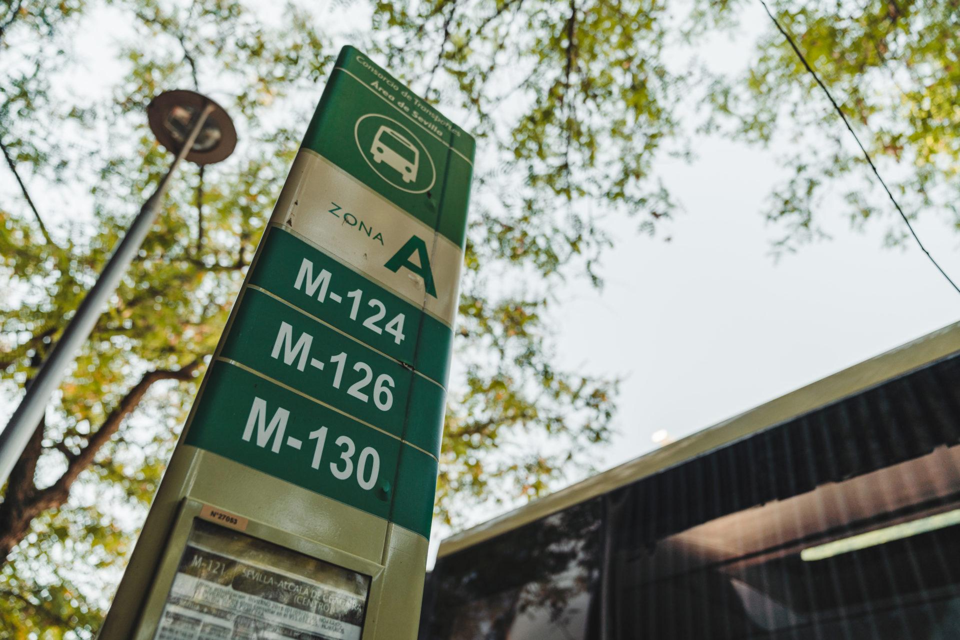 セビージャのバス停留所は「Estación De San Bernardo」前のバス停留所(Ramon Carande通り沿い)