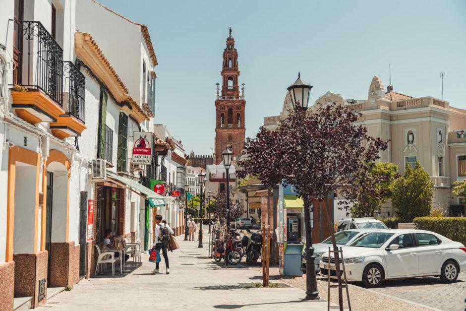 スペイン カルモナのバス停留所