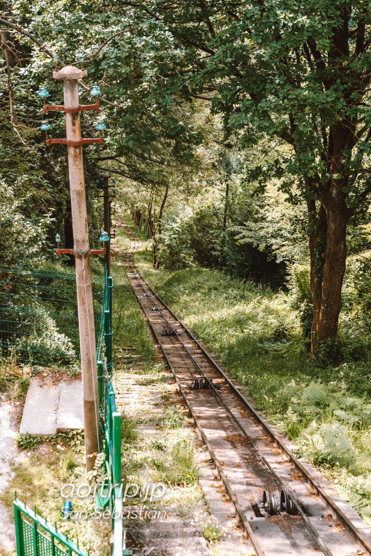 サンセバスティアン モンテイゲルドのケーブルカー線路