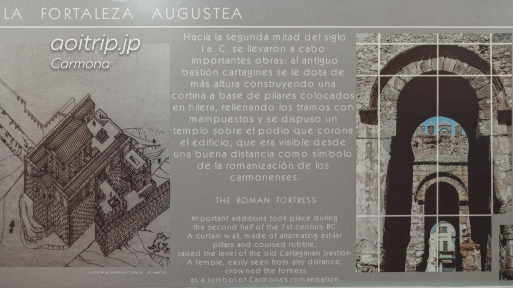 カルモナのPuerta De Sevillaの歴史(現地解説)