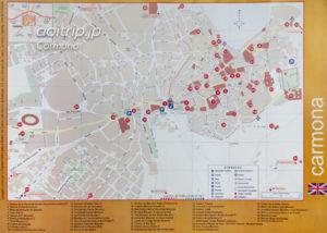 スペイン・カルモナの地図(※クリックで拡大します)