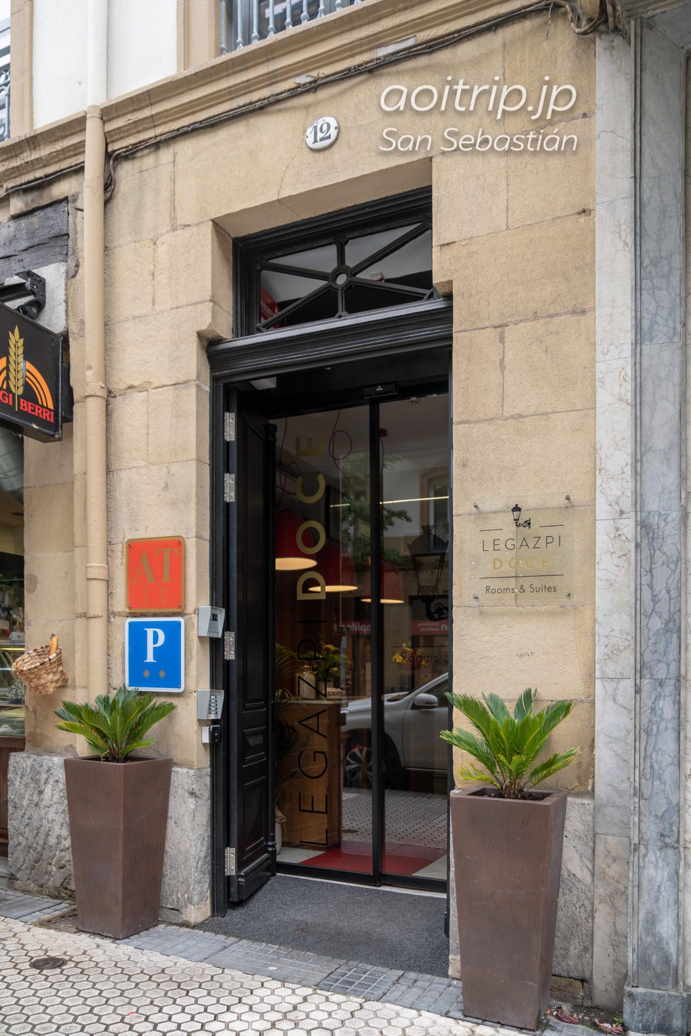レガスピ ドーセ ルームズ サンセバスティアンのホテル入り口