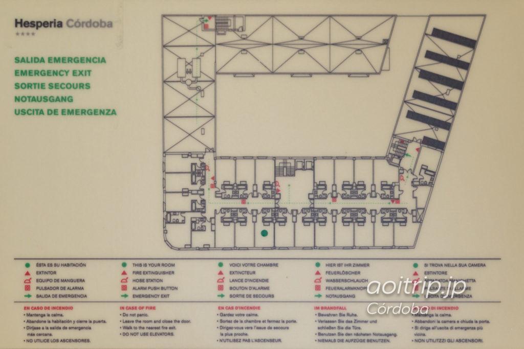 NH コルドバ グアダルキビールのフロアマップ