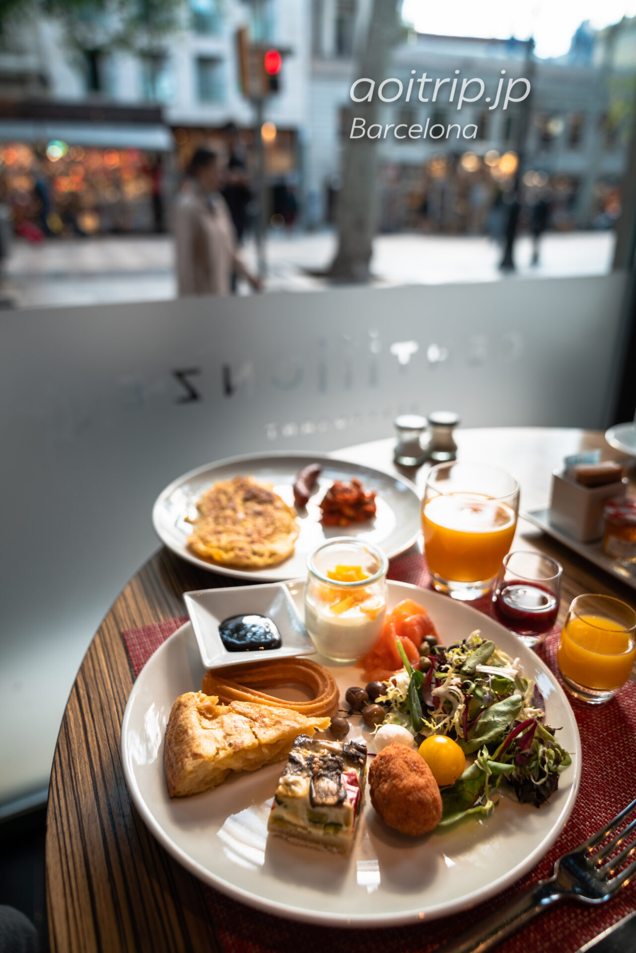 ルメリディアンバルセロナのクローゼット朝食