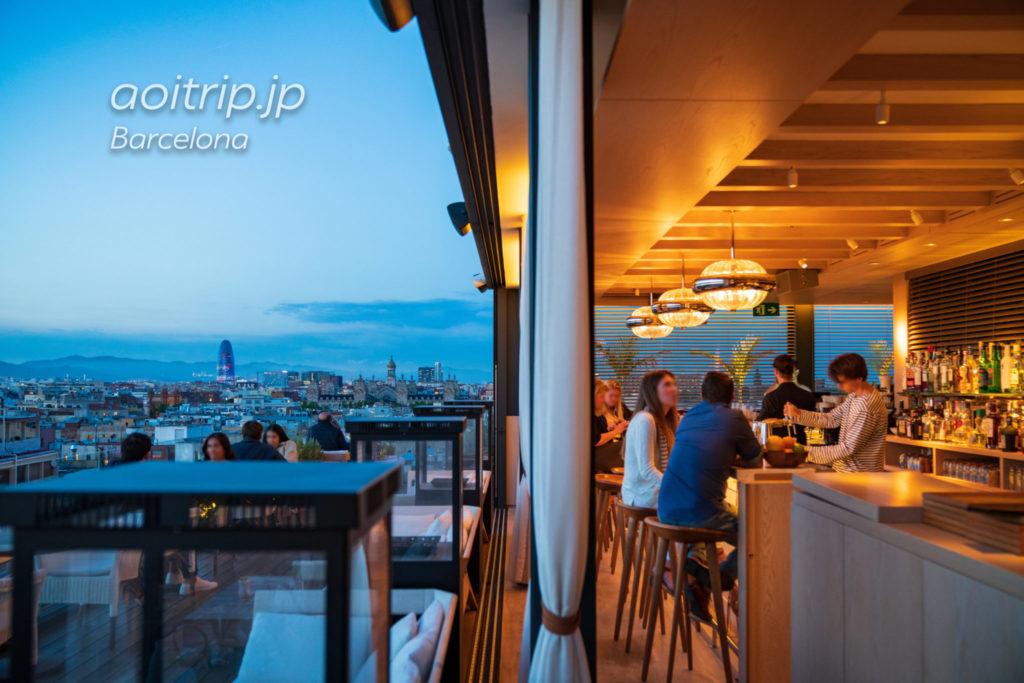 ザバルセロナエディションホテルの屋上レストラン