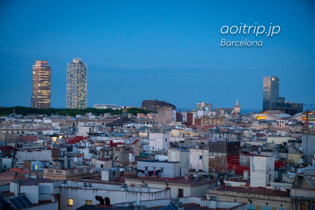 ザバルセロナエディションホテルの屋上レストランからの眺望