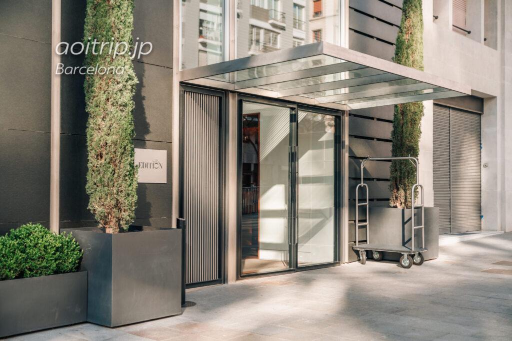 ザバルセロナエディションホテルのエントランス