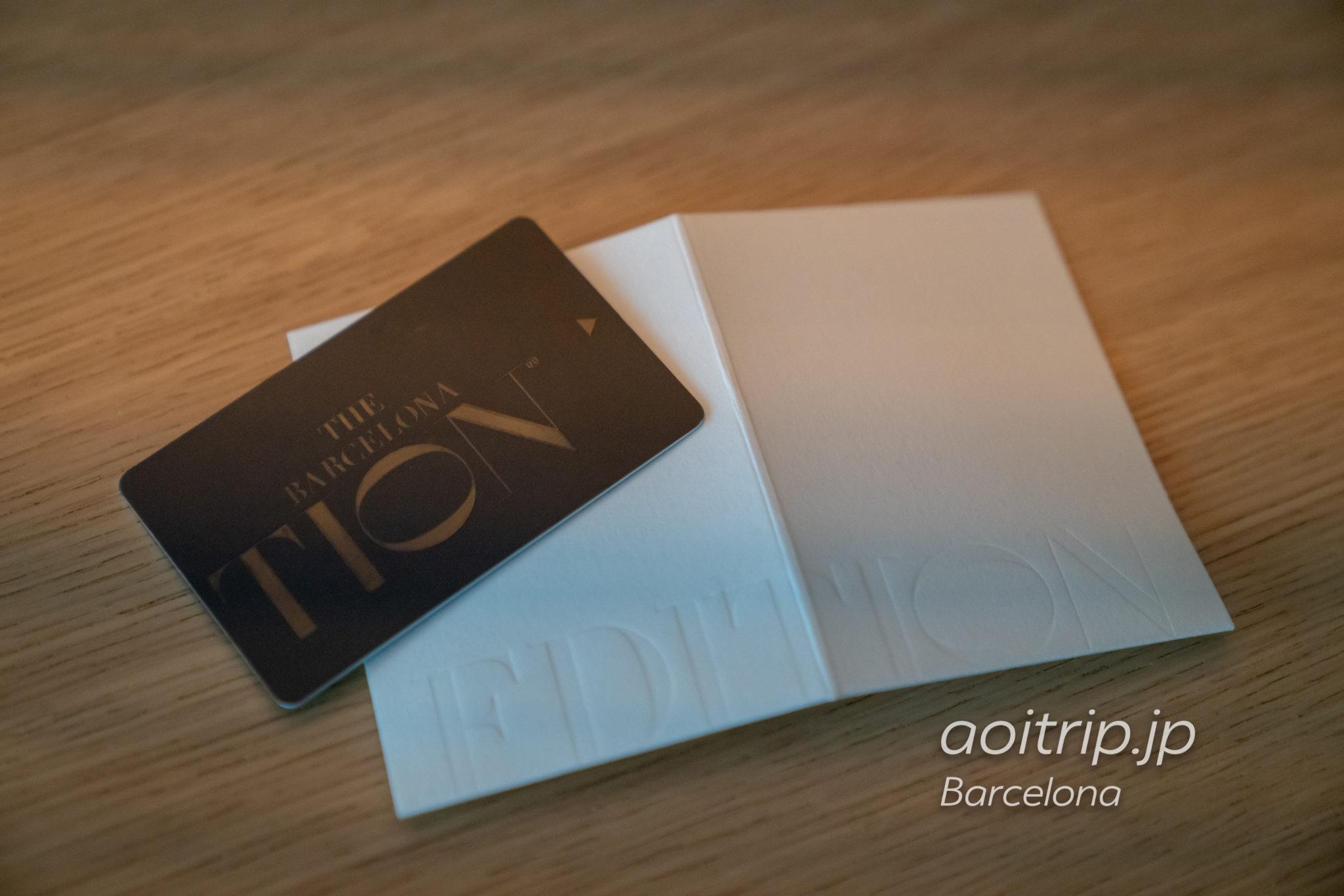 ザバルセロナエディションホテルのカードキー