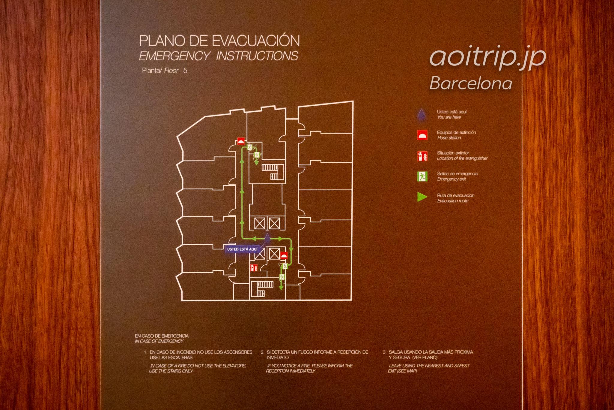 ザバルセロナエディションホテルのフロアマップ