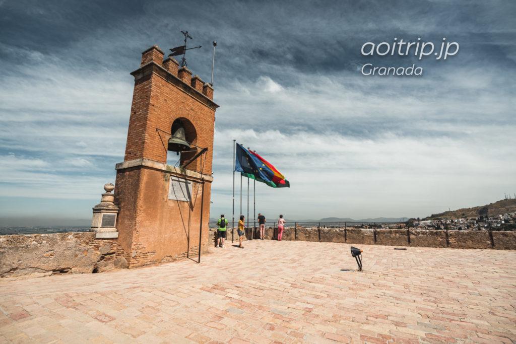 グラナダのアルハンブラ宮殿 アルカサバのベラの塔